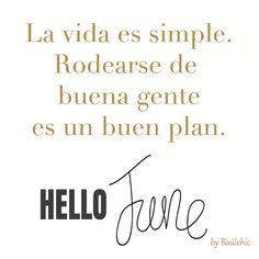 Sí, realmente es un buen plan empezar la semana y el mes rodeados de gente como tú.  #frasedeldia #baulchic