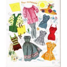 1956 Elizabeth Taylor paper doll clothes / eBay