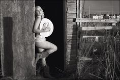 Outdoors country boudoir photo ideA.D. Other then the houses in the back ground