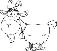 barnyard cartoon coloring pages | Cartoon Baby Goat | Description Goat cartoon 04.svg | More ...