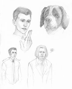 Detroit become human Connor and Hank sketches