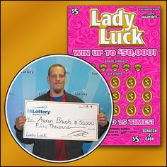 Meet Aaron Bruch of #Davenport. He's our first top prize winner of $50,000 on our new Lady Luck scratch ticket! #WooHooForYou Aaron bought his winning ticket at his local Kwik Star on E. 53rd St. Congratulations!