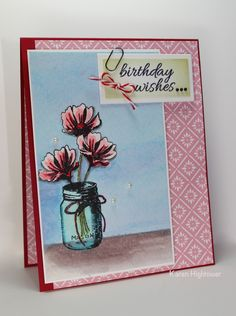 Flowers & Frames Stamp Tv Kit Water colored with Gina K Designs Inks & Spectrum Noir Aqua Markers. Made by: Karen Hightower For: Gina K. Designs All products are available @ http://www.shop.ginakdesigns.com