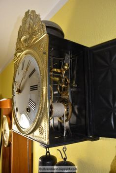 Burgunderuhr 8-Tage Werk - Mechanische - Standuhren - Tischuhren - Clock, Home Decor, Grandfather Clocks, Desk Clock, Watch, Decoration Home, Room Decor, Clocks, Home Interior Design