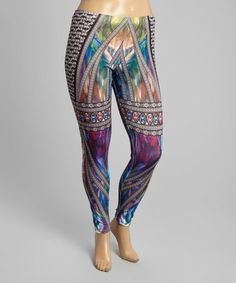 Another great find on #zulily! Black & Blue Jewel Leggings - Plus by Citi Life #zulilyfinds