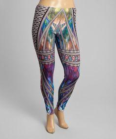 Love this Black & Blue Jewel Leggings - Women & Plus on #zulily! #zulilyfinds