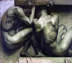 Giulio Aristide Sartorio, Bozzetto per il fregio di Montecitorio 1908-1912 olio su tela, cm 105x120 Velletri, Collezione Vincenzo Pennacchi e Patrizia Sartorio