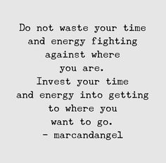 invest in where you want to go