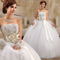 Good quality princess wedding dress with sweet bow and rhinestones; Aiweiyi-inWedding Dresses from Apparel & Accessories on Aliexpress.com $82.00