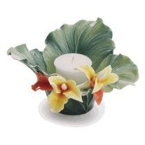 Franz Porcelain Brilliant Blooms canna lily flower tea light holder - Cost $139.00  -  please click image for more info...