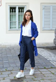 People Tree. Carly Chambray Trousers. SS16. www.peopletree.co.uk via Justine Kept Calm and Went Vegan