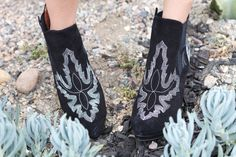 Jeffrey Campbell western inspired ankle boots