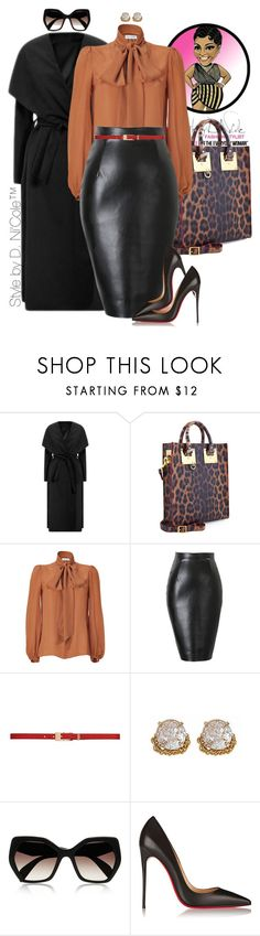 """Untitled #2917"" by stylebydnicole ❤ liked on Polyvore featuring Sophie Hulme, Emilio Pucci, Forever New, ABS by Allen Schwartz, Prada and Christian Louboutin"