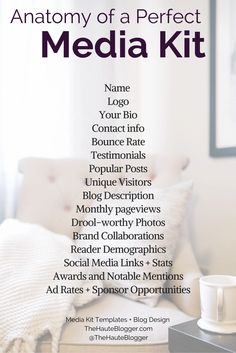 Send your media kit to brands for advertisers, sponsorships and collaborations! Via @thehauteblogger http://www.thehauteblogger.com. Media kit templates and blog tips!