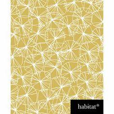 Habitat Star Flower Wallpaper - Mustard from Homebase.co.uk - this is half price @ £12.50