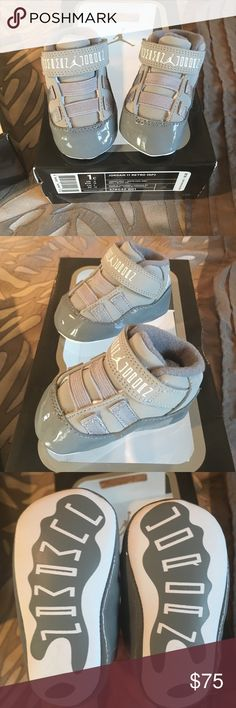 Never worn with box and matching beanie Jordan 11 retro booties Jordan Shoes Baby & Walker