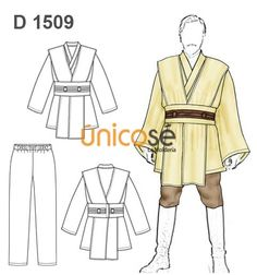 Ideas disfraz de Jedi y princesa Leia Jedi Cosplay, Jedi Costume, Jedi Robe Pattern, Traje Jedi, Jedi Tunic, Star Wars Halloween, Halloween Sewing, Disfraz Star Wars, Costumes