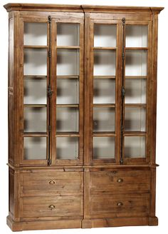 Glass Shelves For China Cabinet Bookcase With Glass Doors, Open Bookcase, Glass Cabinet Doors, Glass Shelves, Book Shelves, Furniture Logo, Large Furniture, Furniture Movers, Furniture Ideas