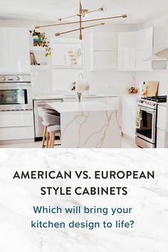 European Style, European Fashion, Kitchen Cabinet Styles, Kitchen Cabinets, Solid Wood, Kitchen Design, American, Life, Design Of Kitchen