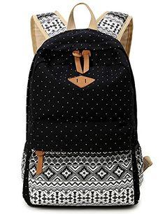 Leaper Geometry Dot Casual Canvas Backpack Bag, Fashion Cute Lightweight Backpacks for Teen Young Girls (Black) Leaper http://www.amazon.com/dp/B019Z2FLF2/ref=cm_sw_r_pi_dp_3c9Gwb0CZYTT9