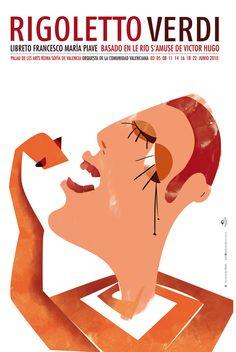 Poster opera Rigoletto by Nadia_Arioui