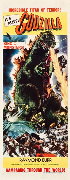 Godzilla Movie Poster Fridge Magnet x inches) Old Movie Posters, Classic Movie Posters, Movie Poster Art, Vintage Posters, Old Movies, Vintage Movies, Classic Sci Fi Movies, Films Cinema, Horror Movie Posters