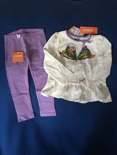 NWT Gymboree 3T Girl's Eric Carle Butterfly Outfit Set #Gymboree