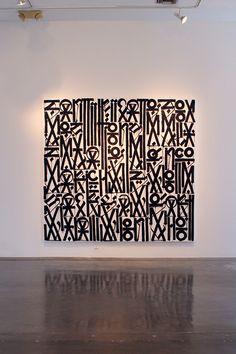 IN LA: RETNA @ MICHAEL KOHN GALLERY i love this painting by RETNA. Usher Battle reality set.