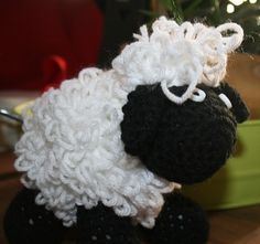Cute Crochet Sheep #HAS #HAF #HAFshop #handmade $20.00