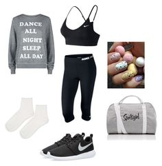 """""""I dance all night!!"""" by brianna-metekingi ❤ liked on Polyvore featuring Wildfox, NIKE and Topshop"""