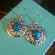 Turquoise n silver earrings Pierced earrings. New. Jewelry Earrings