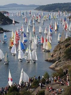 Tjörn Runt is an annual long distance sailing competition that takes place in Sweden around the island of Tjörn. The race is held on the 3rd Saturday of August every year. About 1,000 sailing boats sail the 28 nautical miles (52 km) around Tjörn