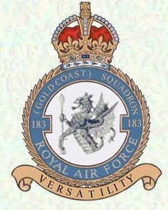 No 183 Squadron Badge Suffolk England, Air Force Aircraft, Military Cap, Royal Air Force, Coat Of Arms, Armed Forces, Wwii, Mustang, Badge