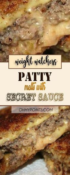 Weight Watchers Patty Melt With Secret Sauce // Weight Watchers Diet, Weight Watchers Smart Points, Weight Watcher Dinners, Wieght Watchers, Skinny Recipes, Ww Recipes, Cooking Recipes, Healthy Recipes, Sandwich Recipes
