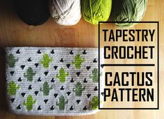 Who has a cactus crush? Tapestry Crochet Cactus Clutch Pattern.