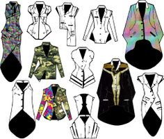 Este es mi line-sheet de practica en experimentación de texturas. Business, Fashion, Moda, Fashion Styles, Store, Business Illustration, Fashion Illustrations