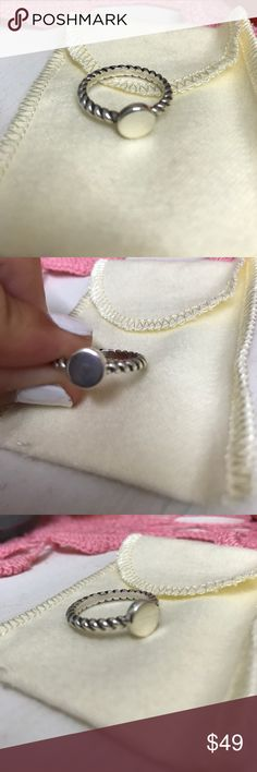 James Avery Engrave-able Twist ring I'm really awesome condition!! The last picture is just a cute picture of what you can do with the ring! James Avery Jewelry Rings