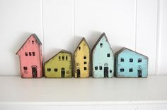 Wooden Houses - Old New Again, etsy store