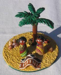 Presépio Africano em biscuit