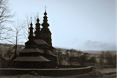 One of the beautiful wooden formerly Orthodox (now Roman Catholic) churches in the remote Bieszczady region of S-E Poland