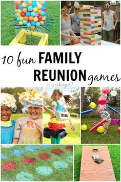 10 fun family reunion games for all ages to add some excitement to Family Reunion Activities, Family Games, Activities For Kids, Family Reunions, Group Games, Group Activities, Activity Ideas, Family Vacations, Outdoor Activities