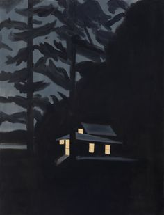 alex katz  Night House, 2013  [oil on linen]