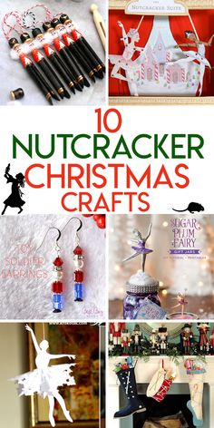 10 Magical nutcracker themed Christmas crafts Nutcracker Crafts, Nutcracker Christmas Decorations, Nutcracker Ornaments, Christmas Party Themes, Christmas Crafts, Holiday Fun, Ballet Crafts, Ballet Decor, Dance Crafts
