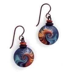 Ocean Namiko Earrings with Top by L Timmins, via Flickr
