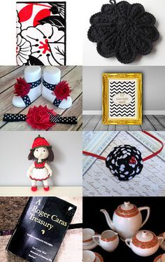 Black, White and Red - Gift Ideas 2015 by Anastasia on Etsy--Pinned with TreasuryPin.com