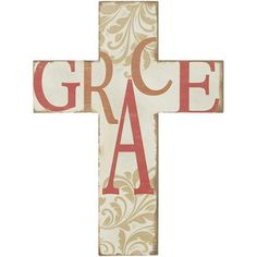 wall crosses images | Wood Word Wall Cross - Grace