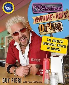 LOVE watching this guy! Diners, Drive-ins and Dives: An All-American Road Trip . with Recipes! (Food Network) by Guy Fieri, Ann Volkwein Food Network Star, Food Network Recipes, Food Network Tv Shows, Diy Network, Dove Recipes, Rib Recipes, Yummy Recipes, Keto Recipes, Healthy Recipes