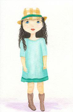 Watercolor girl #20- Ashley