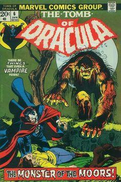 "browsethestacks: ""Vintage Comic - Tomb Of Dracula Pencils: Gil Kane Inks: Neal Adams Marvel "" Sci Fi Comics, Horror Comics, Marvel Comic Books, Marvel Dc Comics, Spiderman, Batman, Ms Marvel, Marvel Heroes, Vampires"