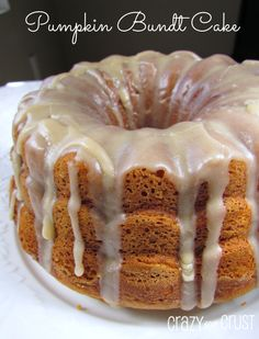 Pumpkin Cake with Browned Butter Frosting - Crazy for Crust